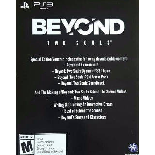 Beyond Two Souls Special Edition Voucher DLC