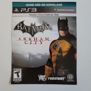 Batman Arkham City Sinestro Corps Batman Skin