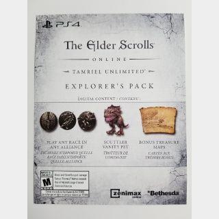 Explorer's Pack DLC for The Elder Scrolls Online