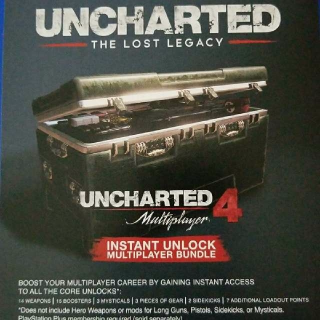 Uncharted The Lost Legacy Preorder Bonus (READ DESCRIPTION)