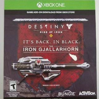 Iron Gjallarhorn Exotic Weapon In Destiny