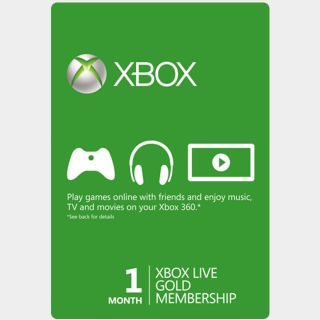 Xbox LIVE Gold 1 Month Code