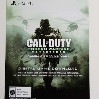 Call Of Duty Modern Warfare Remastered (See Description)