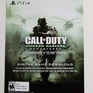 Call Of Duty Modern Warfare Remastered (See Description)