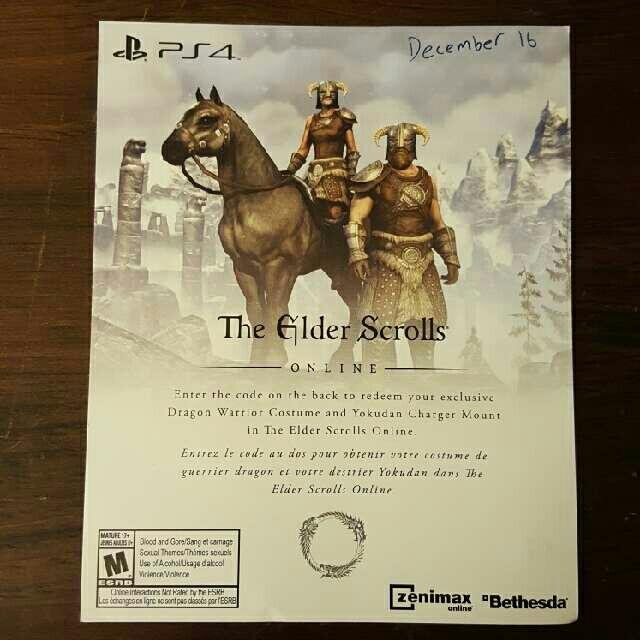 Elder Scrolls Online Dragon Warrior Pack - PS4 Games - Gameflip