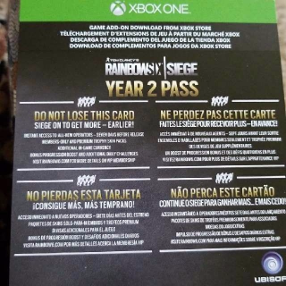 Rainbow Six Siege Year 2 Season Pass
