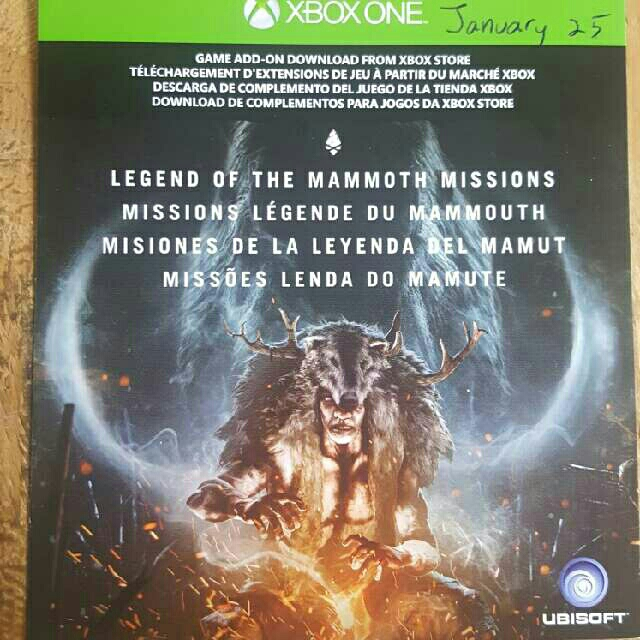 Far Cry Primal Legend Of The Mammoth Missions Dlc Xbox One Games Gameflip