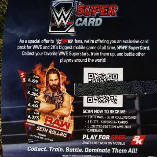 WWE SuperCard Exclusive Card Pack