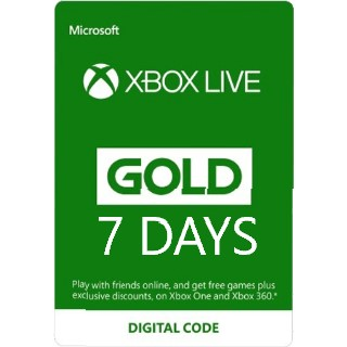 Xbox Live Gold 7 Days