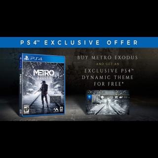 Metro Exodus Dynamic Theme for PS4