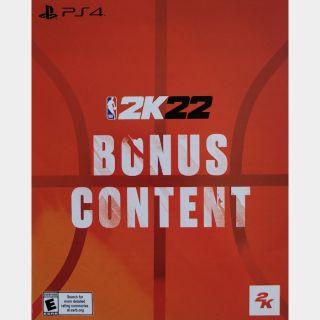 NBA 2K22 Bonus Content PS4