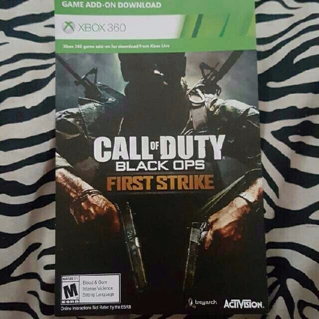 Call Of Duty Black Ops First Strike Map Pack - XBox 360 Games ... Call Of Duty First Strike Map Pack on