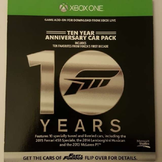 Forza 6 10 Year Anniversary Car Pack