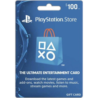 $100.00 PlayStation Store (100$*1)