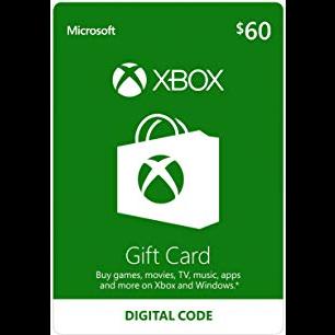 $60.00 Xbox Gift Card (20 code 3$)