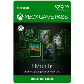 Xbox Game Pass (3 Months) - Auto Delivery