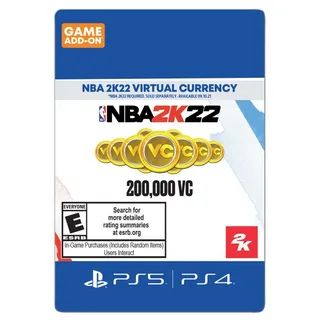 NBA 2K22 200,000 Virtual Currency Sony PlayStation 5 & 4 - US ONLY - INSTANLY DELIVERY