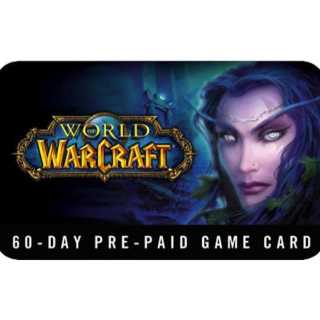 WORLD OF WARCRAFT 60 DAYS PRE-PAID TIME CARD EUR or USA