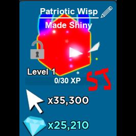 Pet   2 X Shiny Patriotic Wisp
