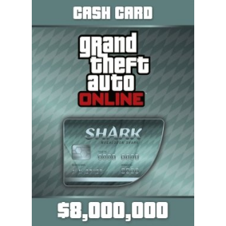 GRAND THEFT AUTO ONLINE - $8,000,000 Megalodon Shark Cash Card Rockstar Key GLOBAL