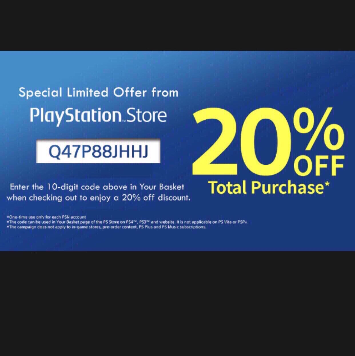 Discount code usa 🇺🇸 PlayStation Store - PlayStation Store