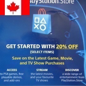 Discount code CANADA PlayStation Store - PlayStation Store Gift