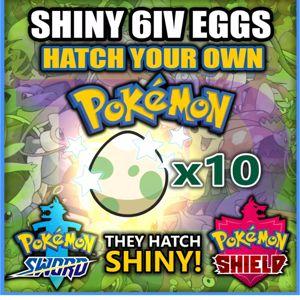 Bundle | ANY 10 SHINY 6iv EGGS