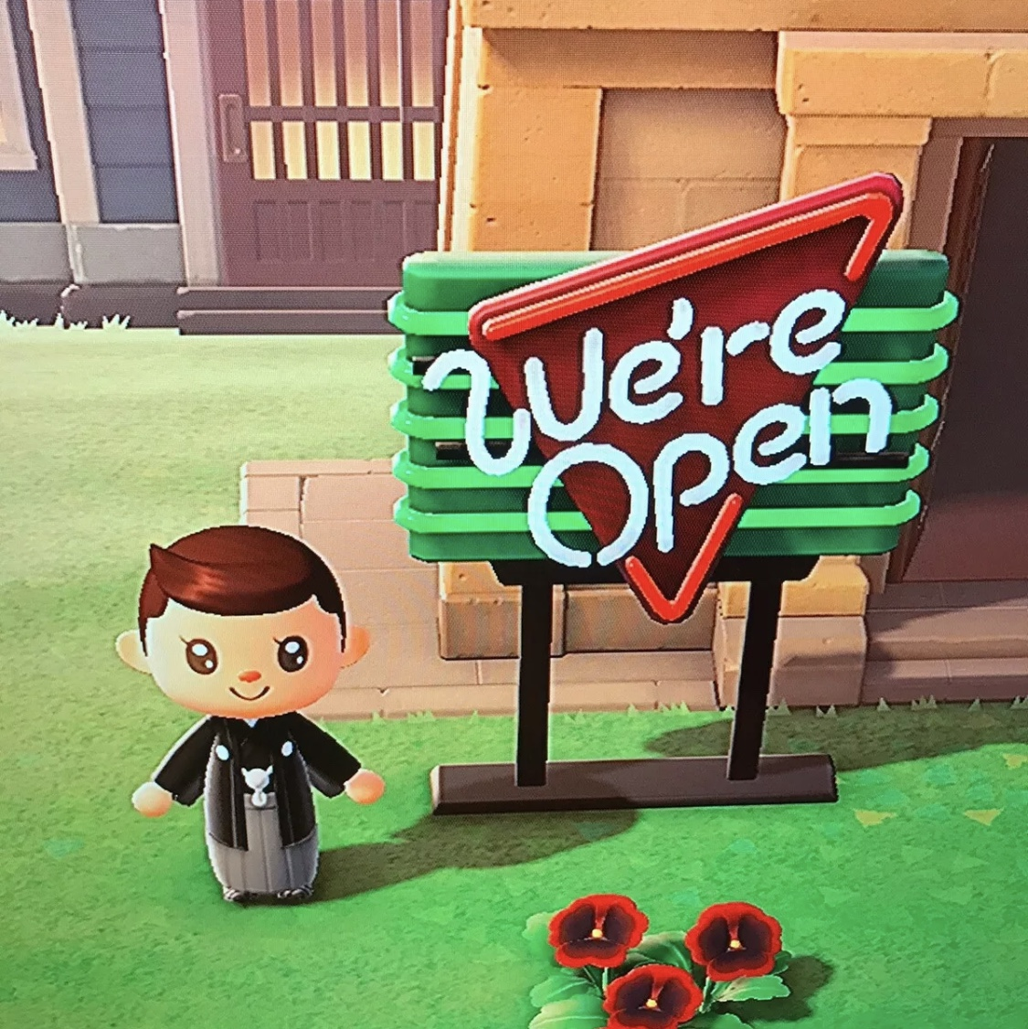 Animal Crossing New Horizons We Re Open Sign Bells Game Items