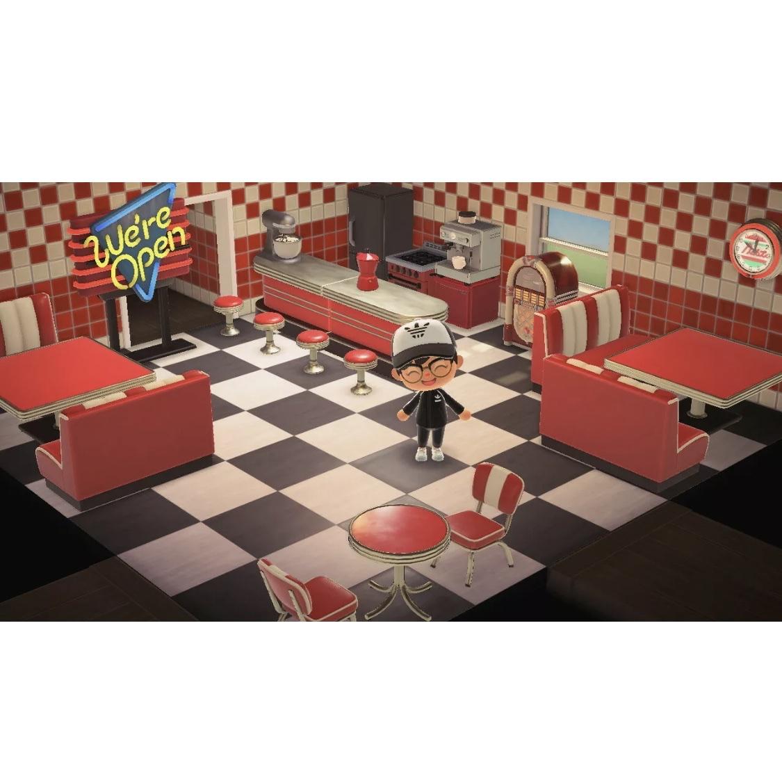 Animal Crossing New Horizons Complete Red Diner Set Nintendo Switch Jogos Gameflip
