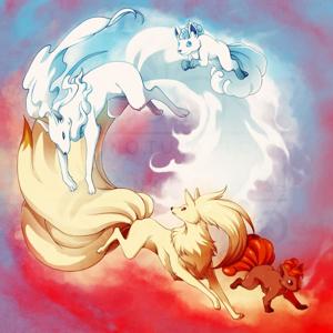 Alolan Ninetales   Shiny Vulpix n Ninetales Combo bundle of 4