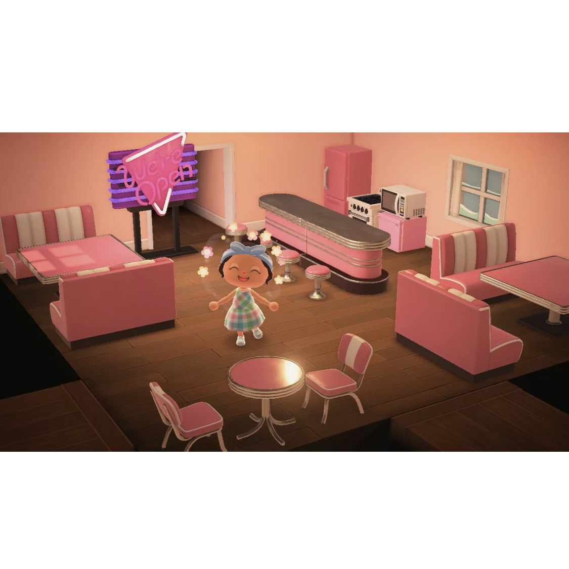 Animal Crossing New Horizons Complete Pink Diner Furniture Set In Game Items Gameflip