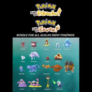 Bundle | You Get All 18 Shiny Alolan Pokemon