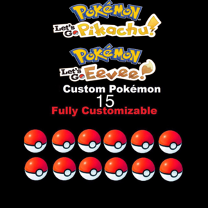 Bundle   Pick Any 15 Custom Pokémon
