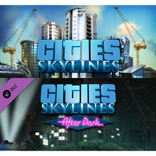 [PC] Cities Skylines + After Dark DLC (STEAM) - [INSTANT DELIVERY]