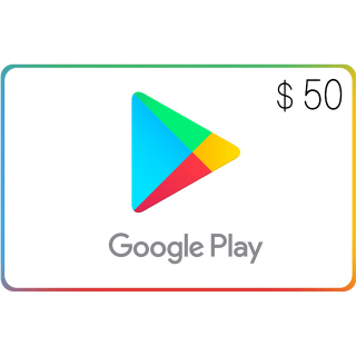 Google Play $50.00 USA (Instant Delivery)