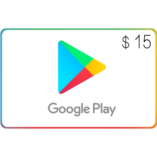 Google Play $15.00 USA (Instant Delivery)