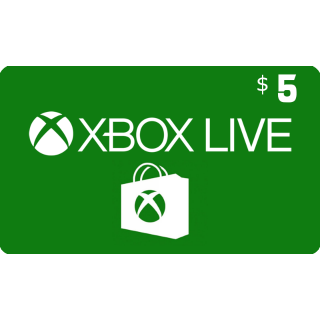Xbox Gift Card $5.00 USA (Instant Delivery)