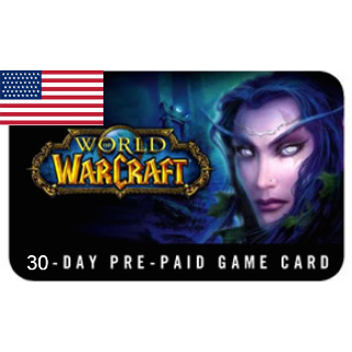 World of Warcraft Game Time Card 30 Days NORTH AMERICA