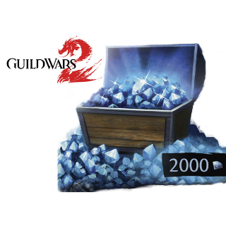 Guild Wars 2: 2000 Gems Card Prepaid Key GLOBAL