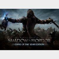 Middle-earth: Shadow of Mordor GOTY Steam Key GLOBAL