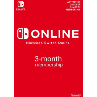 Nintendo Switch Online 3 Month (90 Day) Membership Switch EU