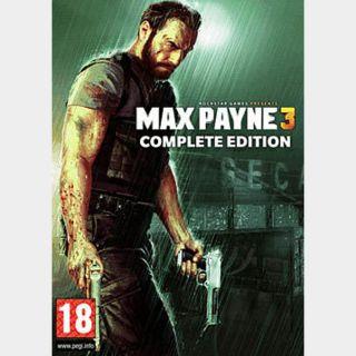 Max Payne 3 - Complete Edition Rockstar Games Key GLOBAL
