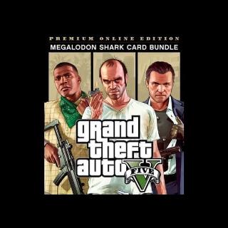 Grand Theft Auto V GTA 5 Premium Online Edition and Great White Shark Card Bundle Rockstar Social Club Key
