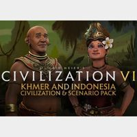 Sid Meier's Civilization VI - Khmer and Indonesia Civilization + Scenario Pack Steam Key GLOBAL