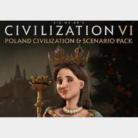 Sid Meier's Civilization VI - Poland Civilization + Scenario Pack Steam Key GLOBAL