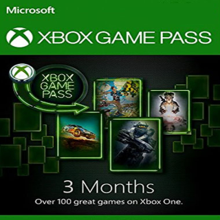 3 Month Xbox Game Pass