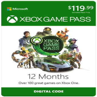 12 Month Xbox Game Pass