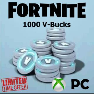 Fortnite 1000 V-Bucks for PC - Xbox