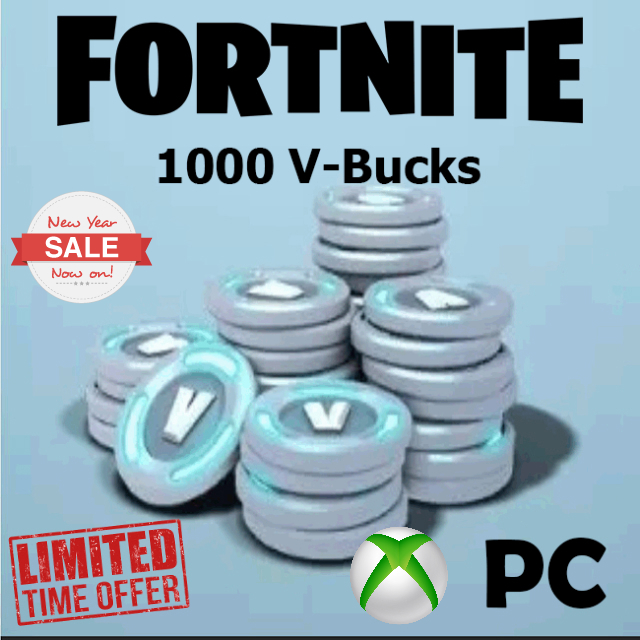 Fortnite 1000 V-Bucks for PC - Xbox - Other Gift Cards