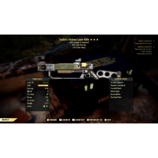 Weapon | 3* Zealot FFR FR Laser